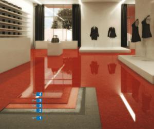Mapefloor Decor 700, epoxydová podlaha