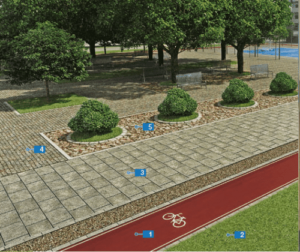 pokládka přírodního kamene, kostek z porfyru, umělé trávy na chodníky, cyklostezky a do zahrad